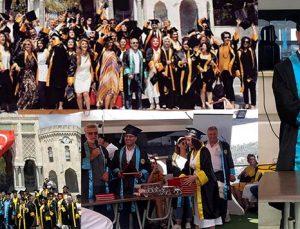AUZEF mezunları kep atarak gönüllerince eğlendi