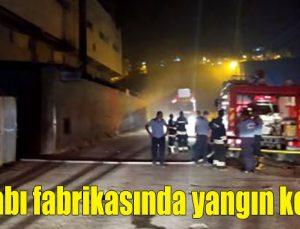 Ayakkabı fabrikasında yangın korkuttu