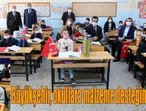 Büyükşehir, okullara malzeme desteğini sürdürüyor