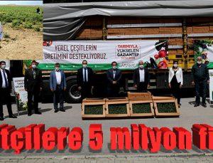 Çiftçilere 5 milyon fide