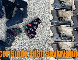 Çorap içerisinde silah sevkiyatına darbe