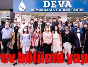 DEVA Partisi İl Yönetiminde görev dağılımı yapıldı