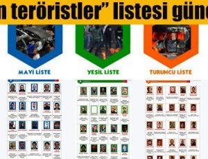 """""""Aranan teröristler"""" listesi güncelledi"""