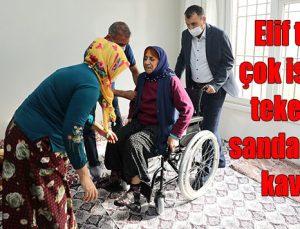 Elif teyze, çok istediği tekerlekli sandalyesine kavuştu