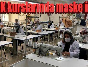 GASMEK kurslarında maske üretimine başladı