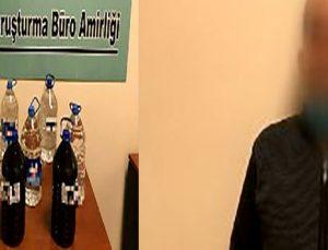 Gaziantep'te 45 litre kaçak alkol ele geçirildi