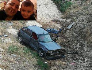 Gece kaza yapan sürücü ve oğlu sabah bulundu