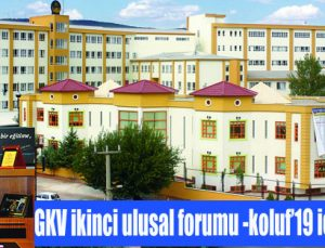 GKV ikinci Ulusal forumu -koluf'19 için geri sayım
