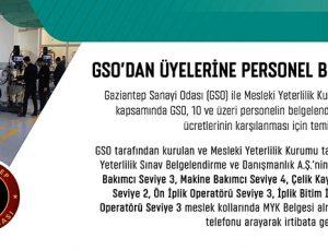 GSO'dan üyelerine personel belgelendirme kolaylığı