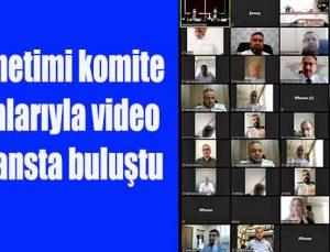 GTO yönetimi komite başkanlarıyla video konferansta buluştu