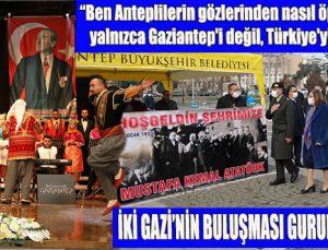 İKİ GAZİ'NİN BULUŞMASI GURURLA KUTLANDI
