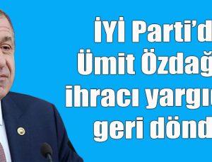İYİ Parti'de Özdağ'ın ihracı yargıdan geri döndü