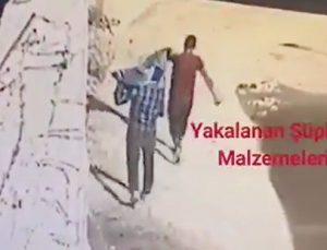 Kablo hırsızları kameralara yakalandı