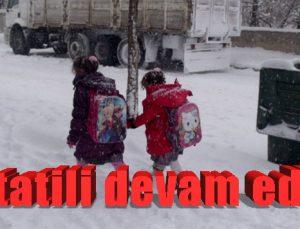 Kar tatili devam ediyor