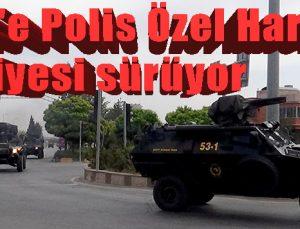 Kilis'e Polis Özel Harekat takviyesi sürüyor