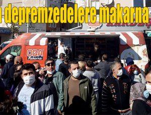 Oba'dan depremzedelere makarna desteği