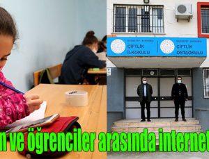 Öğretmen ve öğrenciler arasında internet köprüsü