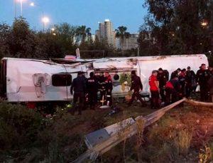 Otobanda korkunç kaza: 2 ölü, 23 yaralı