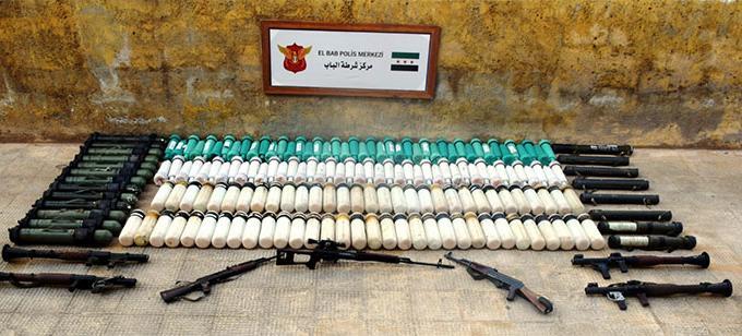 Teröristlere götürülen silahlar ele geçirildi
