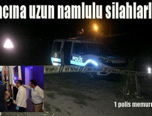 Polis aracına uzun namlulu silahlarla saldırı