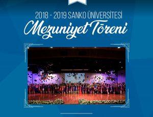 SANKO Üniversitesi'nde mezuniyet töreni heyecanı