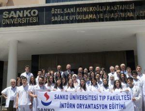 SANKO'da ilk intörn doktorlar eğitimlere başladı