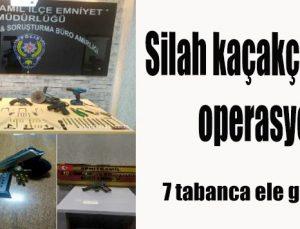 Silah kaçakçılarına operasyonu