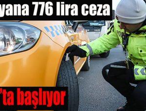 Takmayana 776 lira ceza