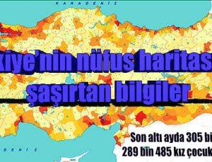 Türkiye'nin nüfus haritasında şaşırtan bilgiler