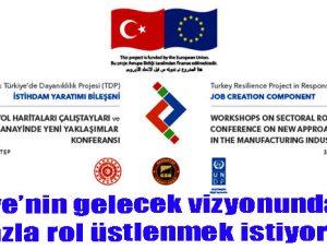 Türkiye'nin gelecek vizyonunda daha fazla rol üstlenmek istiyoruz