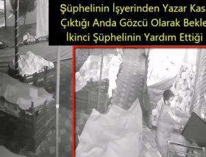 Kameralara yakalanan hırsızlar Polisten kaçamadı