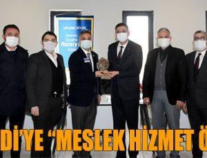 """ÜNVERDİ'YE """"MESLEK HİZMET ÖDÜLÜ"""""""