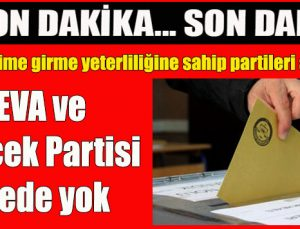 YSK seçime girme yeterliliğine sahip partileri açıkladı